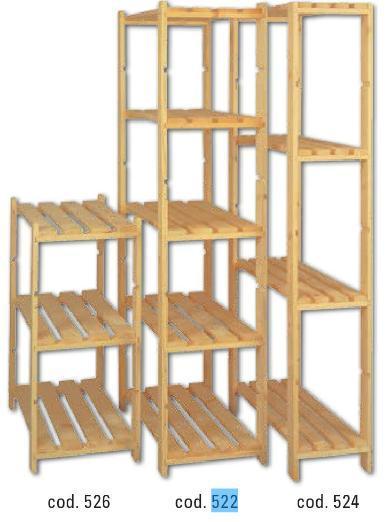 Scaffale in kit legno grezzo 80x40x90h accessori for Scaffali in legno componibili